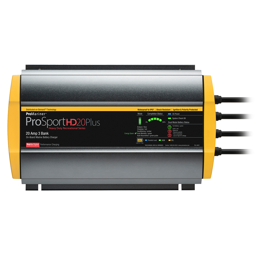 Primary image for ProMariner ProSportHD 20 Plus Gen 4 - 20 Amp - 3 Bank Battery Charger [44021]