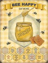 Bee Happy Honey Pot Home Kitchen Garden Cafe Diner Fridge Magnet - $3.68