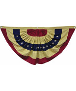 Patriotic LARGE AGED FLAG BUNTING Country Primitive Farmhouse Rustic Tea... - $56.99