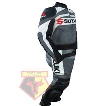SUZUKI GSX-R  MOTORBIKE MOTORCYCLE BIKER COWHIDE LEATHER ARMOURED 2 PC SUIT - $339.99