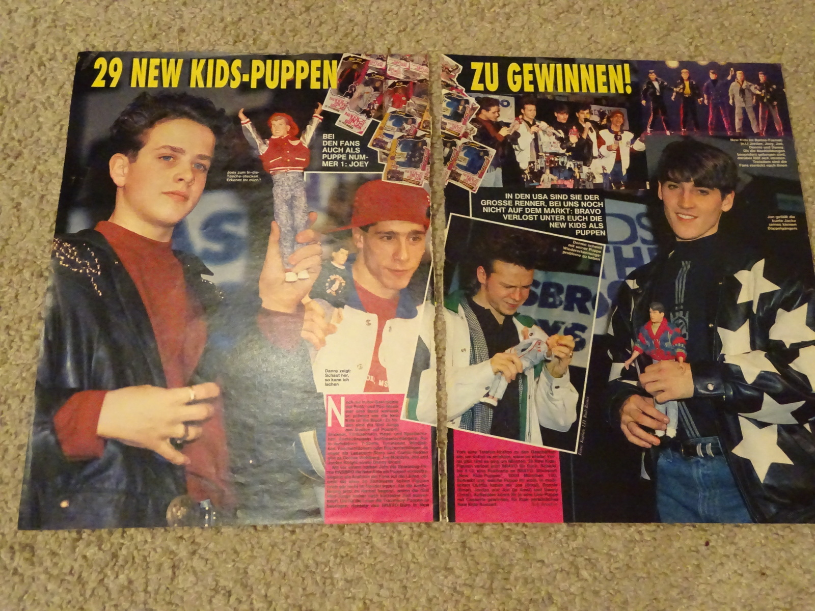 New Kids on the block teen magazine pinup clipping New kids dolls Bravo Bop