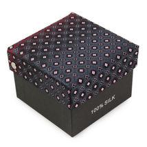 Berlioni Men's Silk Neck Tie Accessory Box Set With Cufflinks & Pocket Square image 7