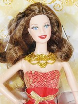 NRFB 2014  HOLIDAY Christmas Brunette  BARBIE Doll Collector Mattel Inc - $31.67