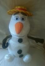 "Disney Olaf Snowman Frozen Talking Singing Moving Hat Cane  **VIDEO** 13"" - $24.18"