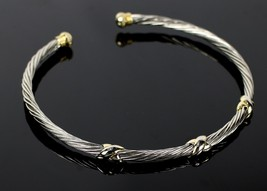 Vintage Silver Brass Tone Rope Fashion Collar Choker Necklace Costume Je... - $26.85
