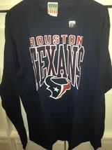 New Men's NFL Houston Texans Field Goal Long Sleeve T-shirt Navy Small - $15.95
