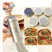 Manual Noodle Pastas Maker Stainless Steel Machine Including 5 Differen... - ₨1,719.73 INR