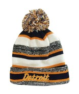 Detroit 4-Color Embroidered Adult Size Winter Knit Pom Beanie Hat (Orang... - $13.98
