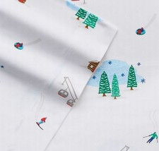 NEW! Cuddl Duds Flannel Sheets Set FULL Ski Slope Winter White Cotton Wa... - $44.43