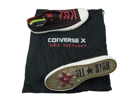 Converse X John Varvatos OX Size 11.5 Striped Oxblood Black Turtledove 1... - $54.44