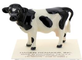 Hagen-Renaker Miniature Ceramic Cow Figurine Holstein Bull Cow and Calf Set image 7