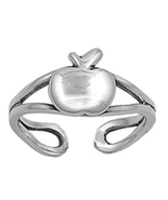 Apple Design Women's Adjustable Toe Ring 14k White Gold Over 925 Sterlin... - $9.99