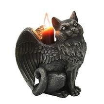 Pacific Giftware Winged Angel Cat Gargoyle Candle Holder - $24.74