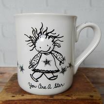 You Are A  Star Coffee Mug Marci Children of the Inner Light Enesco White Black - $19.99