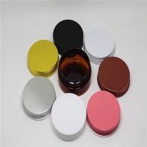 Doristools® 10ps/lot 50g Amber Cosmetic Container Empty Plastic Cream Reuse - $16.96