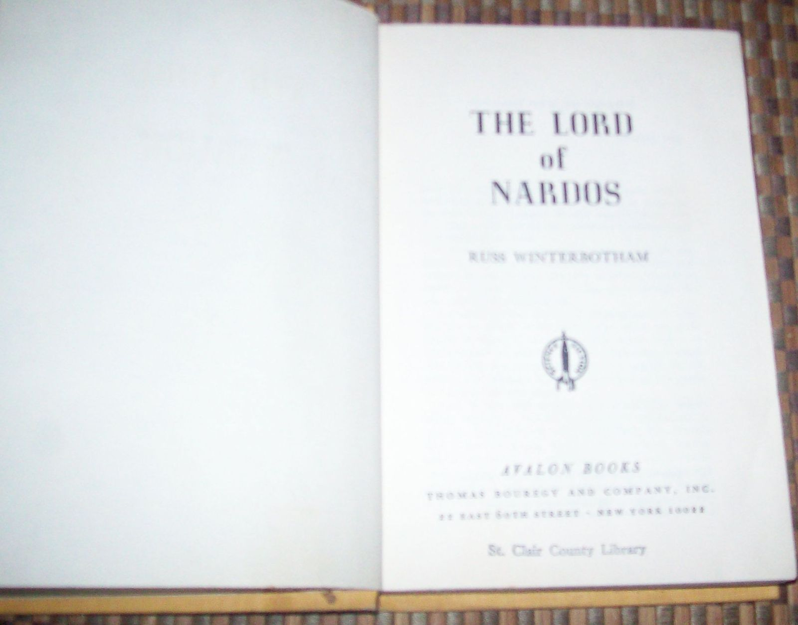 The Lord of Nardos by Russ Winterbotham 1966 HBDJ Avalon Sci-Fi