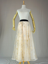 Ivory Long Tulle Skirt Outfit Layered Wedding Tulle Skirt Party Wear Long Skirt image 6