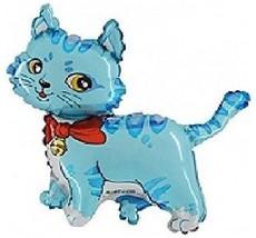 "BLUE CAT Kitty Kitten Sweet 41"" Birthday Party Mylar Foil Decoration Bal... - €9,69 EUR"
