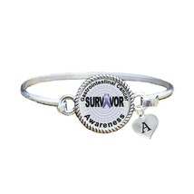 Custom Gastrointestinal Cancer Survivor Silver Bracelet Jewelry Choose I... - $13.80+
