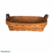 """Longaberger basket in Warm Brown 8"""" long- 1993 - $14.03"""