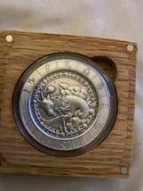 Zodiac Horoscope Capricorn The Goat 1 oz Silver US Antiqued Capsuled Rou... - $69.29