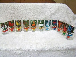 "Lot of 11 The Twelve Days of Christmas 5.5"" Drinking Glasses, Collectibl... - $27.99"