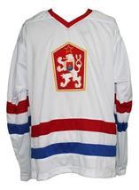 Custom Name # Czechoslovakia Retro Hockey Jersey New White Hasek #2 Any Size image 1
