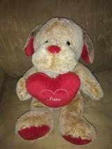 "Animal Adventure Dog Plush 13"" Valentines Day Love Heart Puppy Soft Stuffed... - $19.79"
