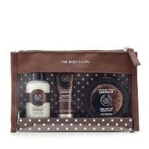 The Body Shop COCONUT 4-Pc Gift Set Shower Gel Hand Cream Body Butter Zi... - $22.76