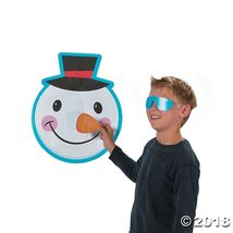 Christmas Holiday Party Game Snowman Pin the Nose on the Snowman 10 players - $14.99
