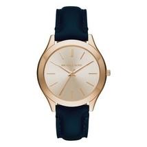 Michael Kors Women's Watch Ladies Golden Steel Leather Band Pink Dial MK2466 - $174.20