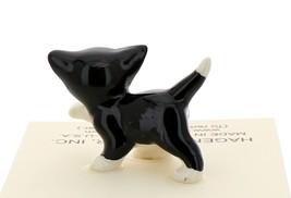 Hagen-Renaker Miniature Ceramic Cat Figurine Black and White Tuxedo Cat Set image 7