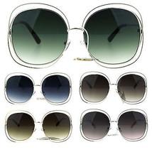 Womens Scribble Multi Wire Rim Oversize Gradient Butterfly Diva Sunglasses - $14.95