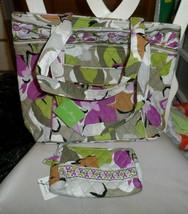 Vera Bradley Three-O tote and small cosmetic in Portobello Road pattern  - $56.00