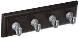 High & Mighty 515813 Tool Free Key Rail with 4 Hooks, 10LB Limit, Espresso and S image 1