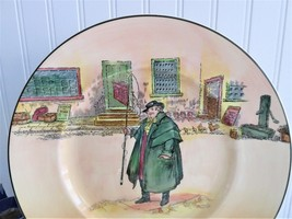 Royal Doulton Tony Weller Plate 1950s Charger Dickens Character English Decor - $55.00