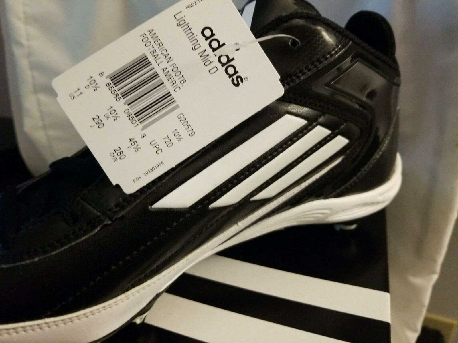 Primary image for Adidas Lightning D Mid Cleats G20579 - (Pick your size) - New in Box