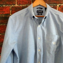 Chaps Mens Dress Shirt XL Blue Button Down Oxford - $11.65