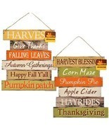 Greenbrier Fall Decoration Hanging Indoor Outdoor Welcome Wood Sign - Th... - $23.57
