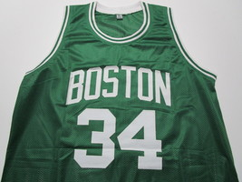 PAUL PIERCE / AUTOGRAPHED BOSTON CELTICS CELTICS CUSTOM BASKETBALL JERSEY / COA image 2