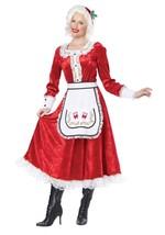 CALIFORNIA COSTUMES CLASSIC MRS CLAUS CHRISTMAS HOLIDAY SANTA COSTUME 01556 - $44.99