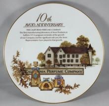 1990 Avon Porcelain Award Plate 10th Anniversary-California Perfume Company - $14.85