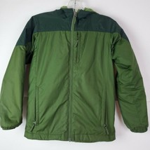 Columbia Jacket Green Kid Boys Youth Size 10 12 M Insulated Full Zip Hooded - $32.65