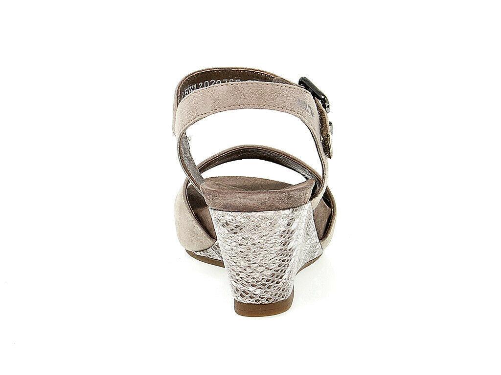 Sandalo con tacco MEPHISTO BEAUTY in camoscio sabbia - Scarpe Donna
