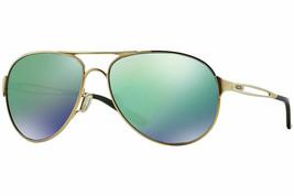 Authentic Oakley Caveat OO4054 15 Sunglasses Gold / Jade Iridium *NEW* 60mm - $191.07