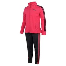 Adidas Girls Jacket Pants Clothing Set Pink Black 2-Piece Active Workout - $42.99