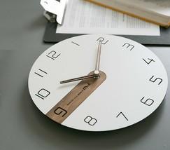 Moro Design Real Wood Nine Wall Clock non Ticking Silent Modern Clock (Classic) image 2