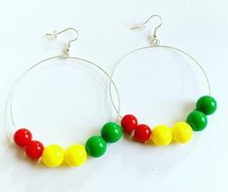 Rasta Hoop Earrings - $5.90