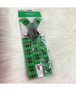 New St Pattys Patricks Day Suspenders Ages 14+ Green Plaid Dress Up Fun ... - $7.69