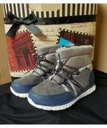 Surprize by STRIDE RITE Toddler  Mike Winter Fashion Boots Gray/Blue Boys - $20.00